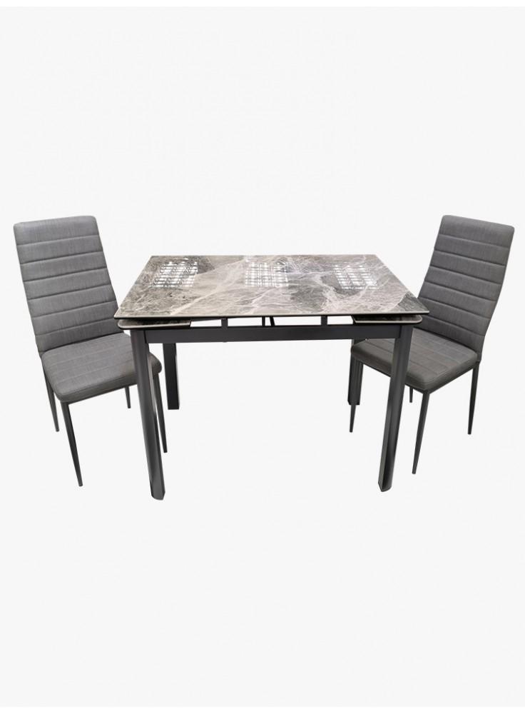 意大利陶瓷玻璃開合餐檯連四椅