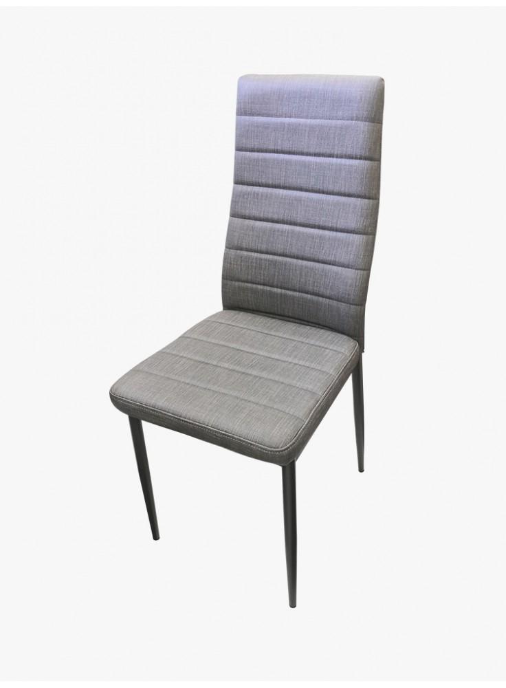 炭灰布紋皮卡奇餐椅