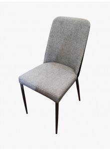 炭灰布紋雙色皮卡奇餐椅