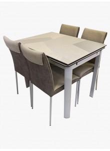 拼花陶瓷開合餐檯連四椅