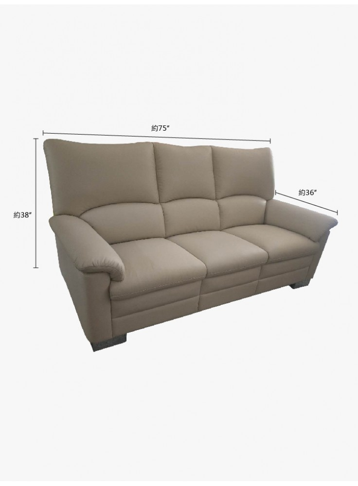 Half leather sofa (No. 6136)