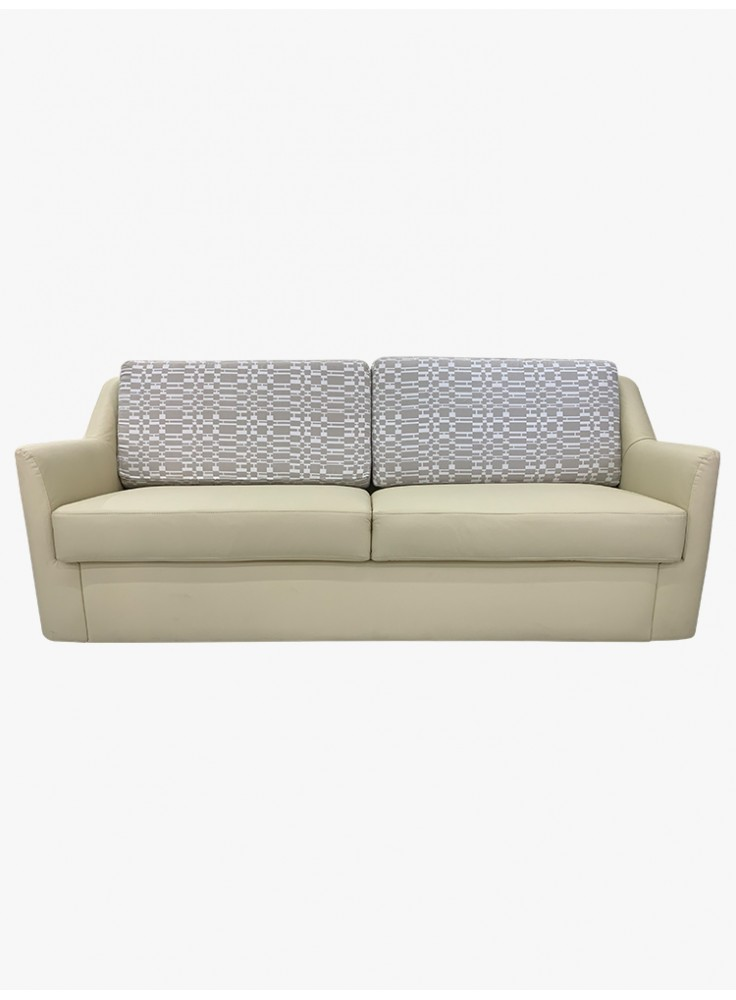 Half leather sofa with storage (No. 7109P)