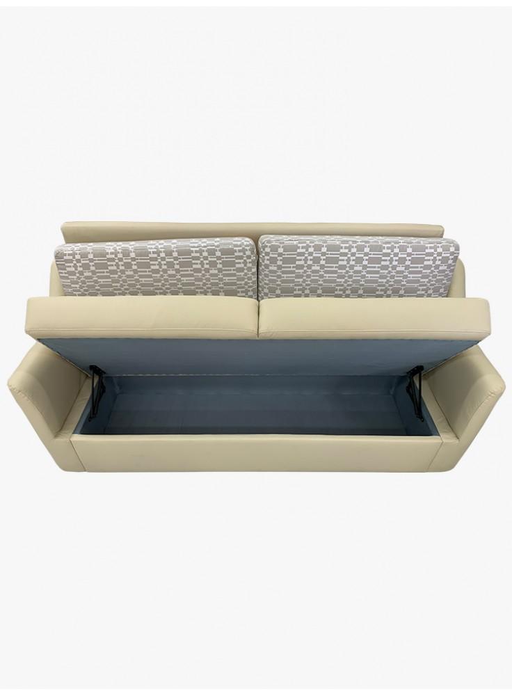 Half leather sofa with storage (No. 7109P)